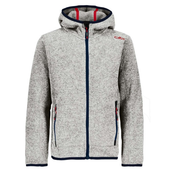 Campagnolo Knitted Fix Hooded Jr - Argento/Bianco
