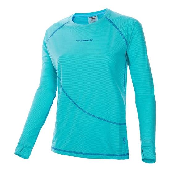 Trangoworld Seira LS Shirt W - Azul Turquesa/Azul Oscuro