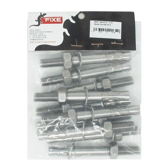 Fixe Parabolt M12 x 110 mm PLX (Pack 10 ud.) -