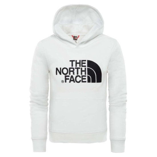 The North Face Drew Peak PO Hoodie Youth - Tnf White/Tnf White