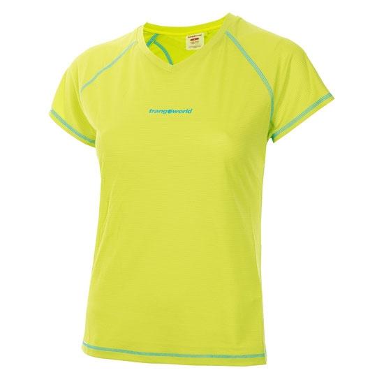 Trangoworld Musia Shirt W - Verde Lima/Azul Turquesa