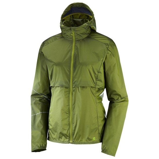 Salomon Elevate Aero FZ Hoodie W - Avocado/Graphit