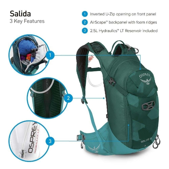 Osprey Salida 8 W - Photo of detail