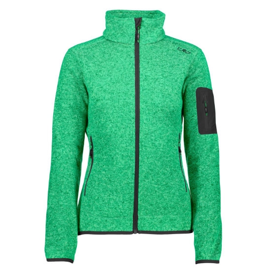 Campagnolo Knitted Fleece W - Ice Mint/Emerald