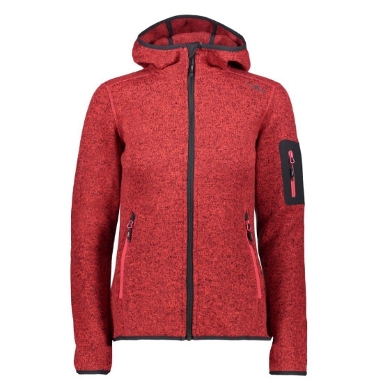 Campagnolo Knitted Hood Jacket W - Corallo/Antracite