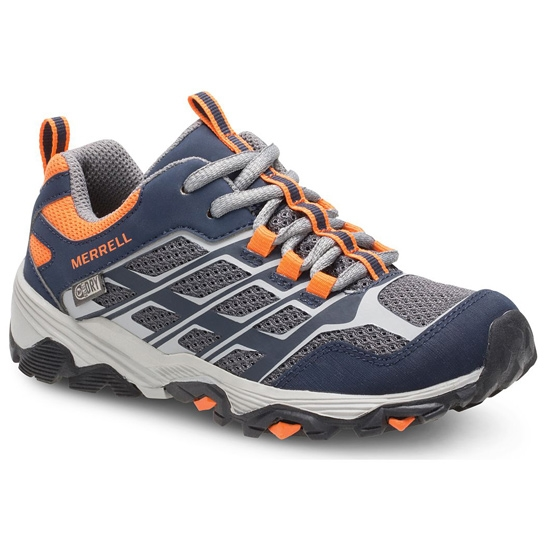 Merrell Moab Low FST Waterproof Jr - Navy/Grey/Orange