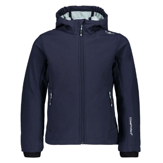 Campagnolo Softshell Fix Hood Girl - Blue/Opale