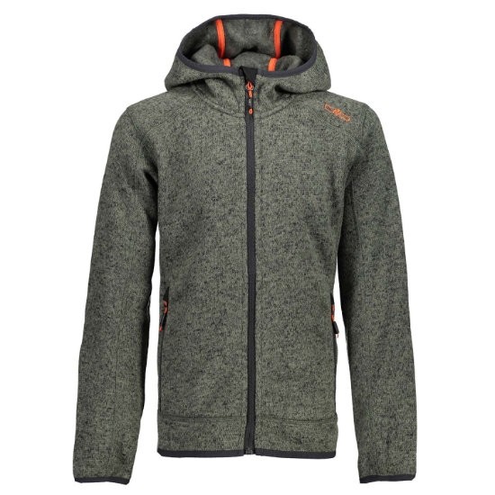 Campagnolo Knitted Fix Hooded Jr - Kaky/Antracite