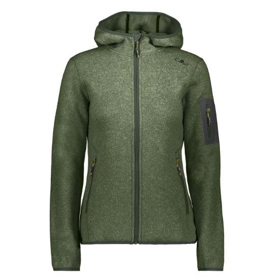 Campagnolo Knitted Hood Jacket W - Kaky/Opale