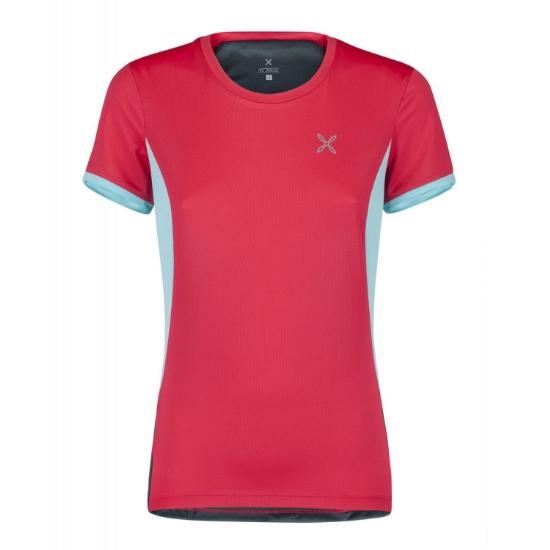 Montura World Mix T-Shirt W - Rosa Sugar/Ice Blue