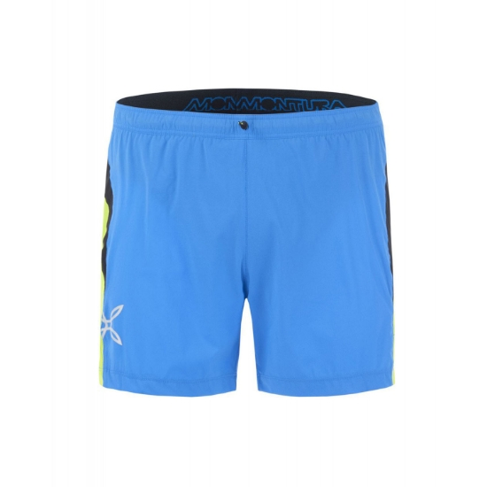 Montura Run Fast Shorts - Celeste/Verde Acido
