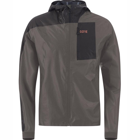 Gore R7 GTX Shakedry Hooded - Lava Grey/Black