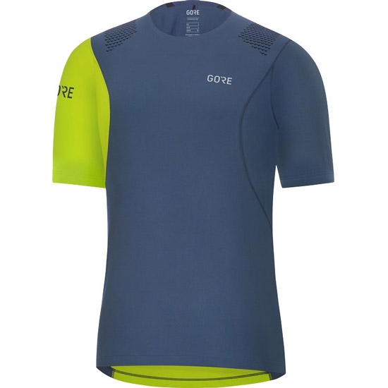 Gore R7 Shirt - Deep Water Blue/Citrus Green