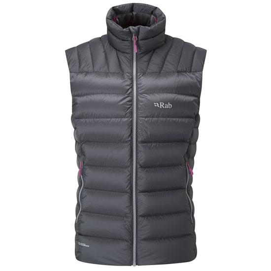 Rab Electron Vest W - Graphene/Peony