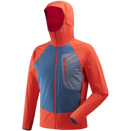 Millet Touring Speed XCS Hoodie - Orange/Poseidon