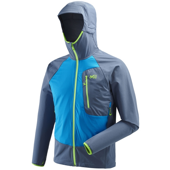 Millet Touring Speed XCS Hoodie - Teal Blue/Electric Blue