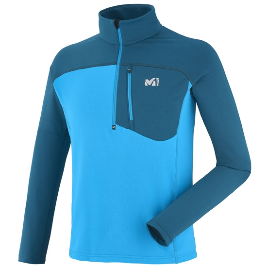 Millet Tecnostretch Zip - Electric Blue/Poseidon Blue