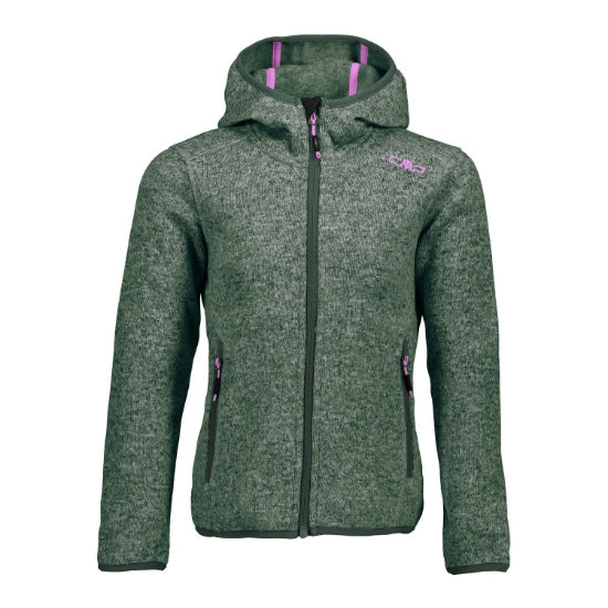 Campagnolo Fleece Fix Hood Girl - Kaky/Opale