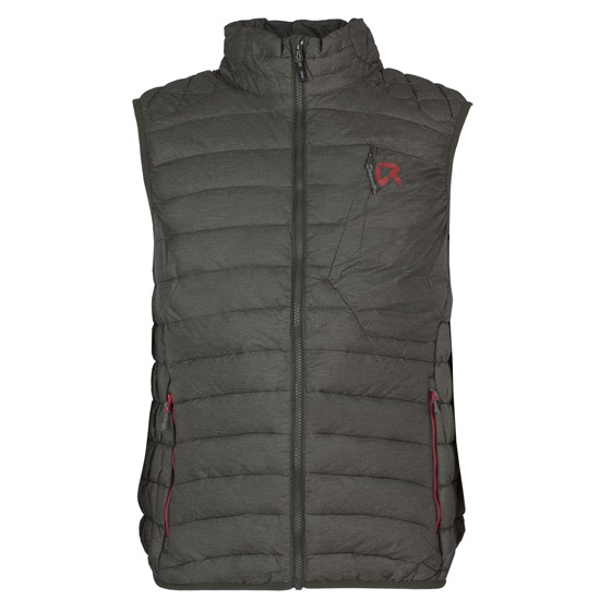 Rock Experience Milo Padded Vest - Forest Night Melange