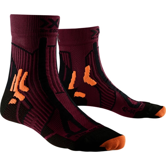 Xsocks Trail Run Energy - Sunset Orange/Opal Black