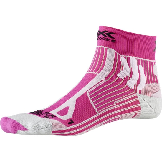 Xsocks Trail Run Energy W - Flamingo Pink / Pearl Grey