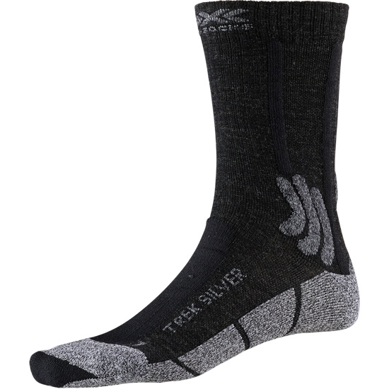 Xsocks Trek Silver - Opal Black/Dolomite Grey Mel