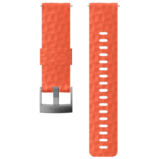 Suunto 24mm Explore 1 Silicon Strap - Coral/Grey