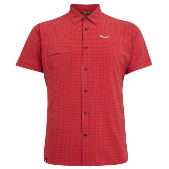 Salewa Puez Minicheck Dry Shirt - Velvet Red