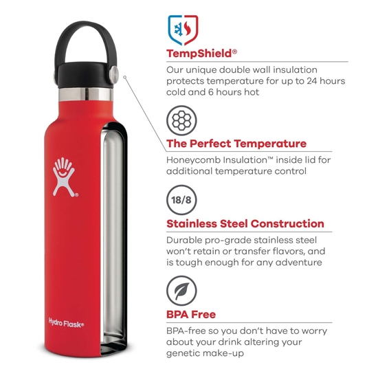 Hydro Flask 18oz Standard Mouth - Photo of detail