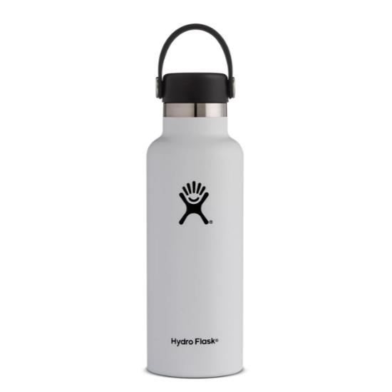 Hydro Flask 18oz Standard Mouth - White