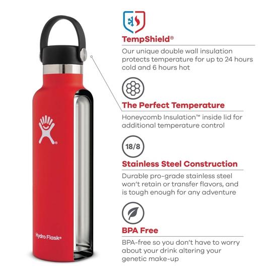 Hydro Flask 21oz Standard Mouth - Detail Foto
