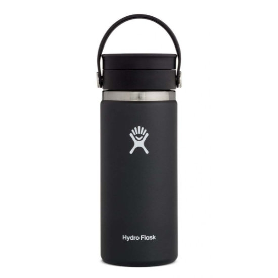Hydro Flask 16Oz Wide Mouth W/ Flex Sip Lid - Black