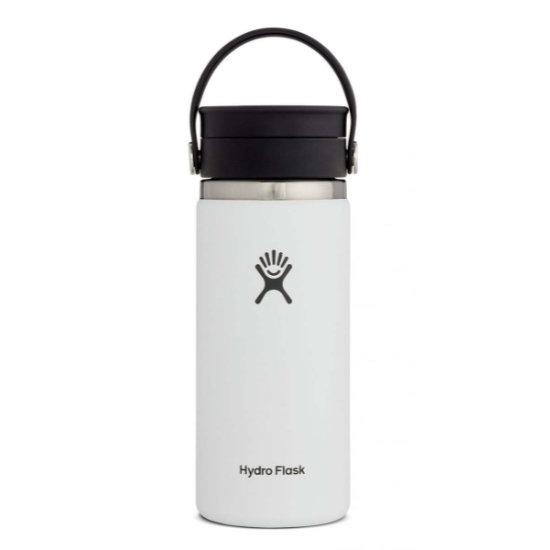 Hydro Flask 16Oz Wide Mouth W/ Flex Sip Lid - White