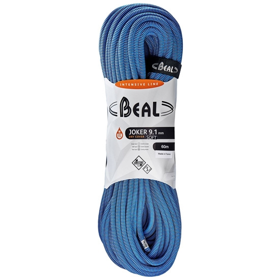 Beal Joker Soft Dry Cover Unicore 9,1 mm x 60 m - Blue