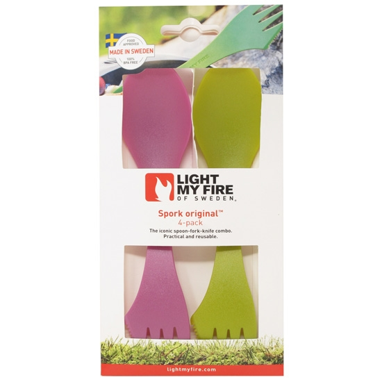 Light My Fire Spork Original 4 Pack - Petrol/Silvei/Pinkmetal/Pirateg