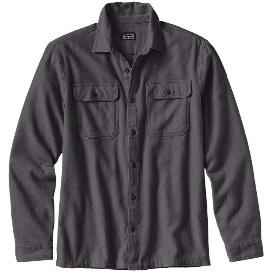 Patagonia L/S Fjord Flannel Shirt - Forge Grey