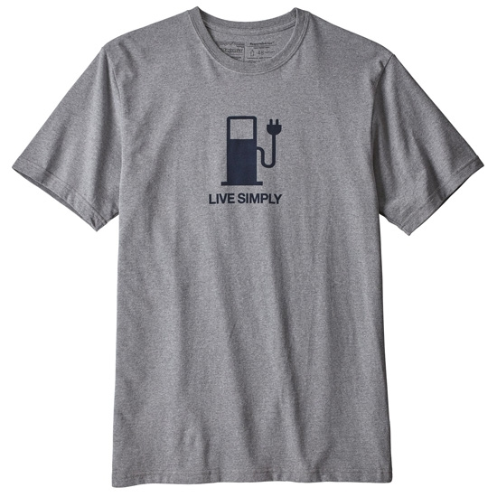 Patagonia Live Simply Power Resp-Tee - Gravel Heather