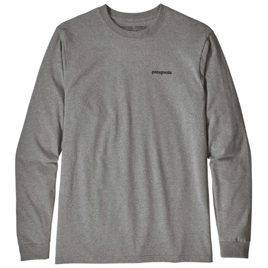 Patagonia L/S Flying Fish Responsibili-Tee - Gravel Heather