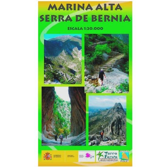 Ed. Piolet Mapa Marina Alta Serra 1:20000 -