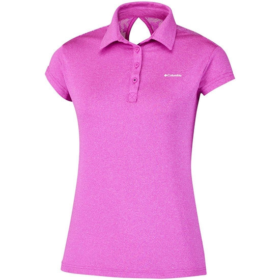 Columbia Peak To Point Novelty Polo W - Groovy Pink