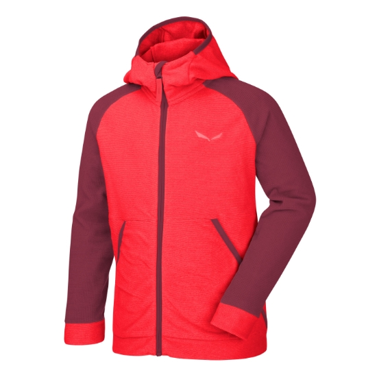Salewa Puez Biki Hoody Kids - Hot Coral