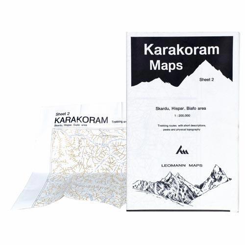 Ed. Leomann Maps Pu. Karakoram Maps-Sheet 2: Skardu, Hispar -