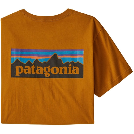 Patagonia P-6 Logo Organic T-Shirt - Hammonds Gold