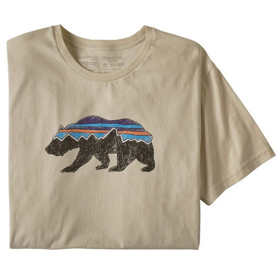 Patagonia Fitz Roy Bear Organic Tee - Oyster