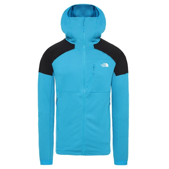 The North Face Impendor Grid Hoodie - Acoustic Blue/Black