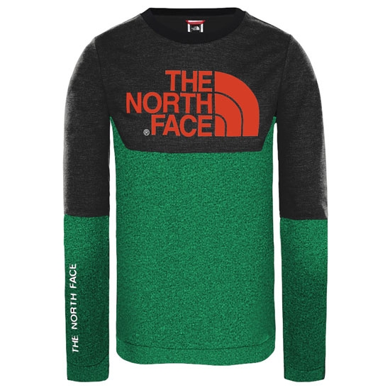 The North Face South Peak LS Tee Jr - Night Green/Black
