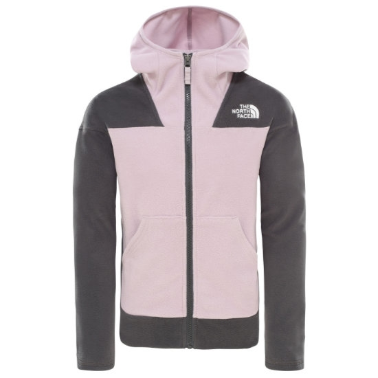 The North Face Glacier Full Zip Hoodie Girl - Ashen Purple
