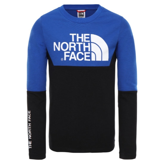 The North Face South Peak L/S Tee Jr - Black/Blue