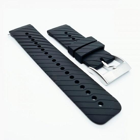 Suunto 24 Mm Ath 3 Silicon Black Steel Strap M -