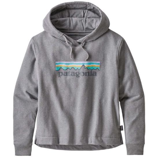 Patagonia Pastel P-6 Logo Uprisal Hoody - Gravel Heather